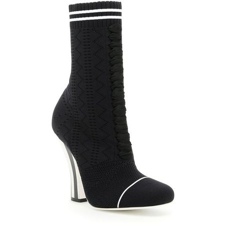 Fendi Knitted Boot Heels