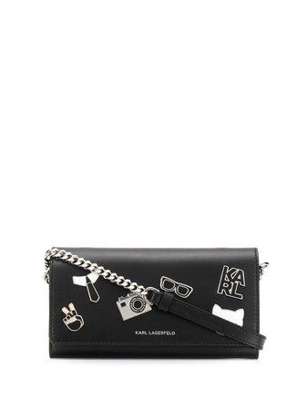 Karl Lagerfeld K/studio Pin Crossbody Wallet 201W3235913 Black | Farfetch