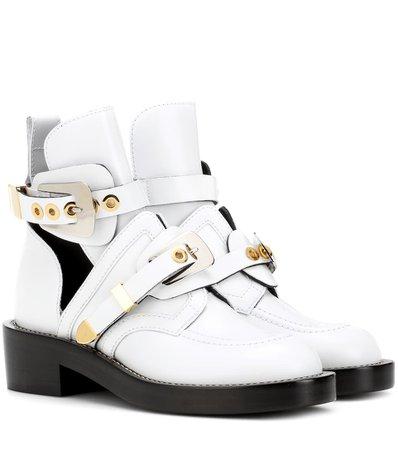 Ceinture Leather Cut-Out Boots - Balenciaga | mytheresa