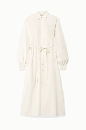 Ivory Crepe midi dress | Co | NET-A-PORTER
