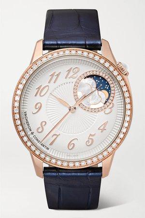 Rose gold Egérie Automatic 35mm 18-karat pink gold and diamond watch | Vacheron Constantin | NET-A-PORTER