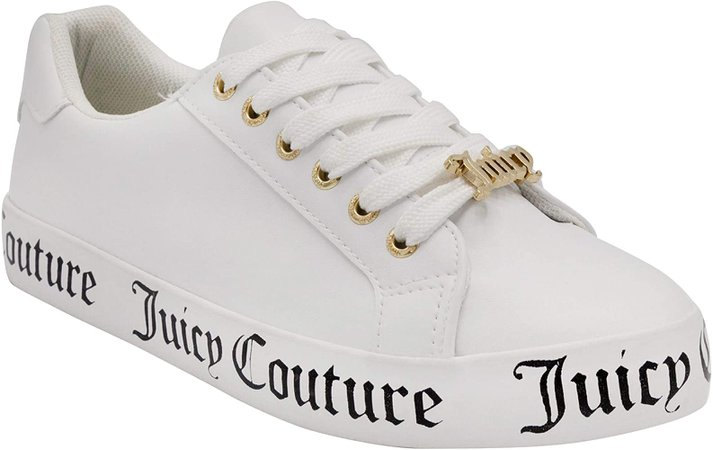 Amazon.com | Juicy Couture Bubblez Women Lace Up Fashion Sneaker Casual Shoes Platform Sneakers for Women Bubblez White/Pink 6 | Shoes