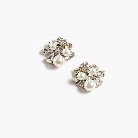 J.Crew: Pearl And Crystal Earrings
