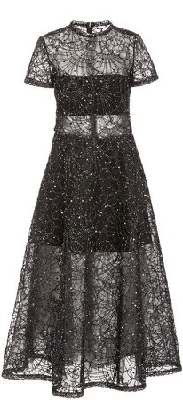 Burnett New York Sequined Organza Midi Dress