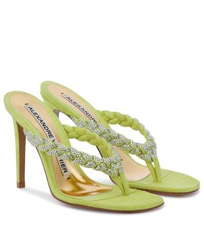 Alexandre Vauthier - Jojo embellished suede sandals | Mytheresa