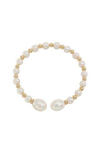 Effy® Freshwater Pearl Bangle Bracelet in 14k Yellow Gold