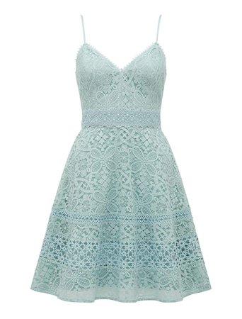 Selma Deep V Lace Prom Dress - Womens Fashion Online | Ever New Clothing blue