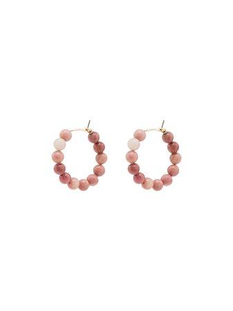 Holly Ryan Agate Beaded Hoop Earrings - Farfetch