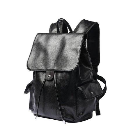 black leather backpack (2)