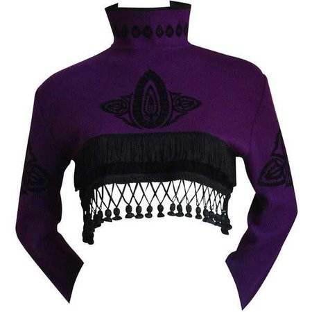 1980's JEAN PAUL GAULTIER for EQUATOR cropped sweater with fringe