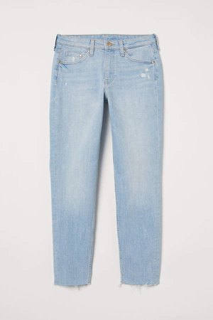 Girlfriend Regular Ankle Jeans - Blue