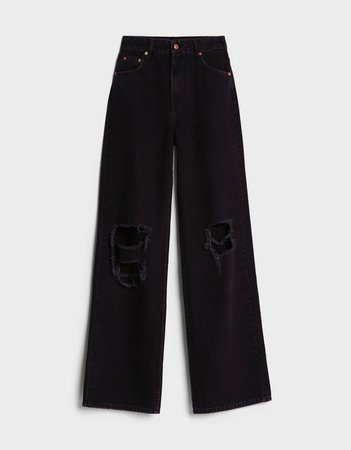 '90s Ripped flare jeans - New - Bershka United States
