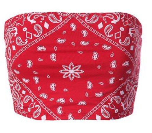 bandana tube top