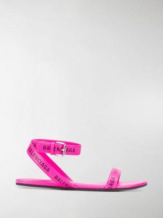 Logo-Strap Flat Sandals