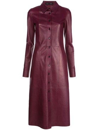 Proenza Schouler Leather Shirt Dress - Farfetch