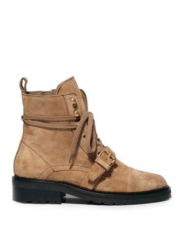 AllSaints Donita Suede Zip Combat Boots