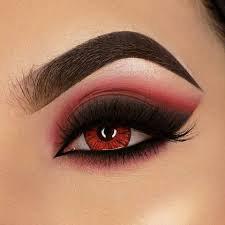red eye shadow looks - Google Search