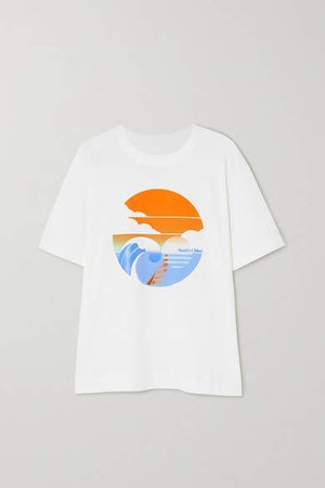 Summer Wave Cotton-jersey T-shirt - White