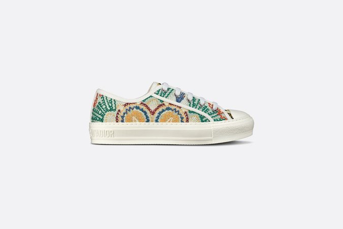 Walk'n'Dior Sneaker Multicolor Dior In Lights Embroidered Cotton - Shoes - Women's Fashion | DIOR