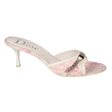 Christian Dior Rose Clair Logo Flow Mule Plate (CDW15)