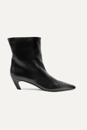 Black Leather ankle boots | Khaite | NET-A-PORTER