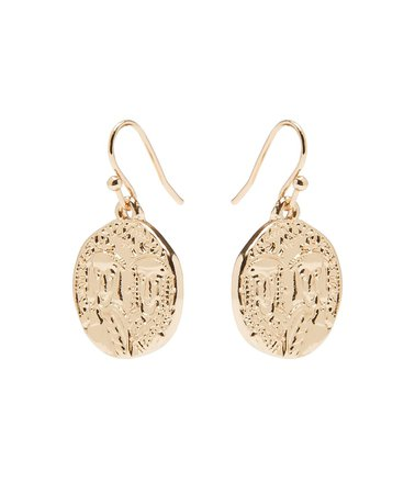 Gold Ivy Coin Dangle Earrings