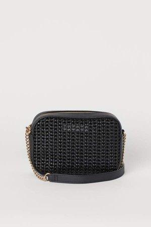 Braided Shoulder Bag - Black