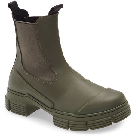 Recycled Rubber Chelsea Rain Boot