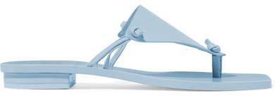 Tina Leather Sandals - Blue