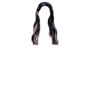 Black Hair PNG Blonde Streaks/Tips