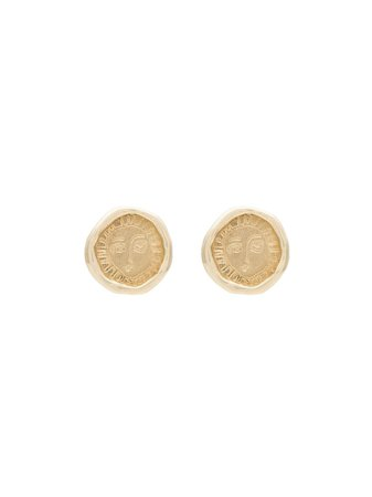 Holly Ryan Gold-Plated Sterling Silver Picasso Face Earrings Ss20 | Farfetch.com