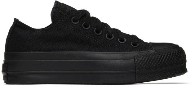Black Chuck Lift Low Sneakers