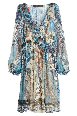 Printed Silk Chiffon Dress Gr. IT 44