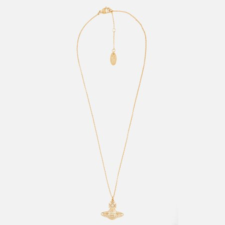 Vivienne Westwood Women's Minnie Bas Relief Pendant Necklace - White Crystal - Free UK Delivery over £50
