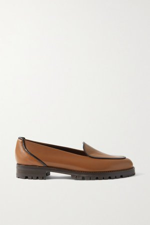 Foco Leather Loafers - Light brown
