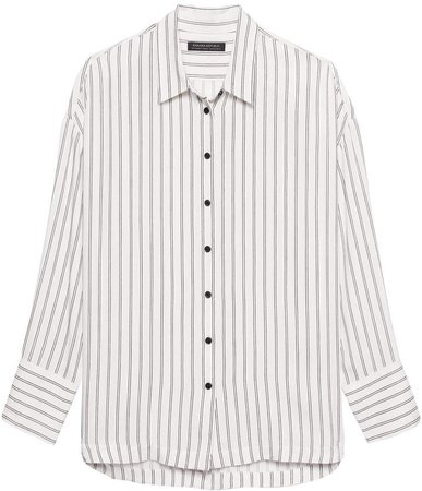 JAPAN ONLINE EXCLUSIVE Oversized Stripe Shirt