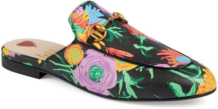 x Ken Scott Princetown Floral Print Loafer Mule