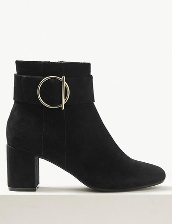 Wide Fit Side Buckle Ankle Boots | M&S Collection | M&S