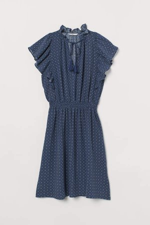 Dress with Ruffles - Blue