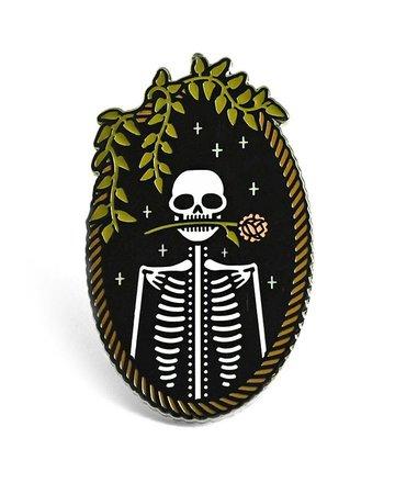 Jackie Skeleton Pin – Strange Ways