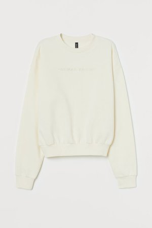 Cotton-blend Sweatshirt - White
