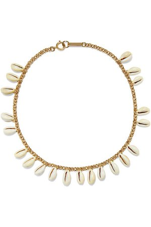Isabel Marant | Gold-tone and shell choker | NET-A-PORTER.COM