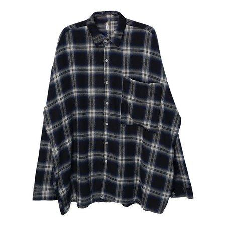 Rocho Oversized Plaid Shirt | YesStyle