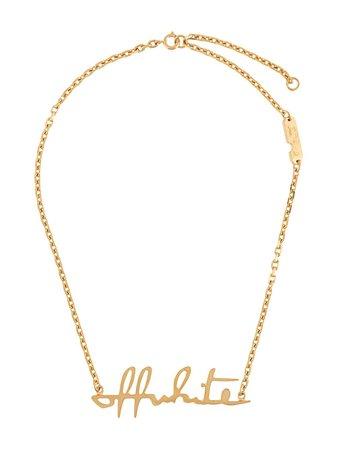 Off-White logo-plaque Necklace - Farfetch