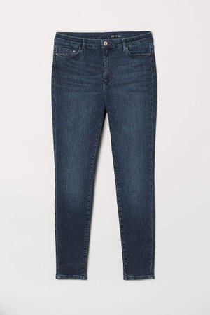 H&M+ Shaping Skinny High Jeans - Blue