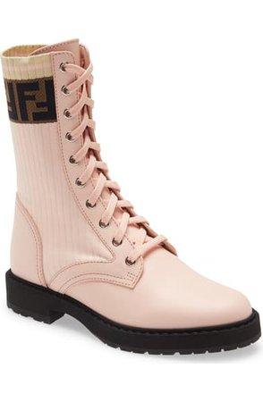 Fendi Rockoko Chelsea Sock Combat Boot (Women) | Nordstrom