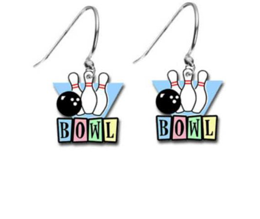 Bowling Alley Bowler Pins Ball Retro Vintage Gift Image Charm