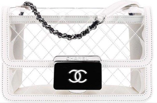 White Transparent Chanel Bag