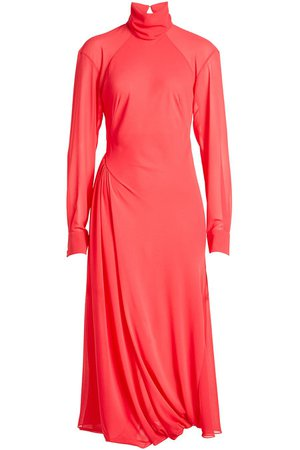 Victoria Beckham - Draped Dress with Turtleneck - Sale!