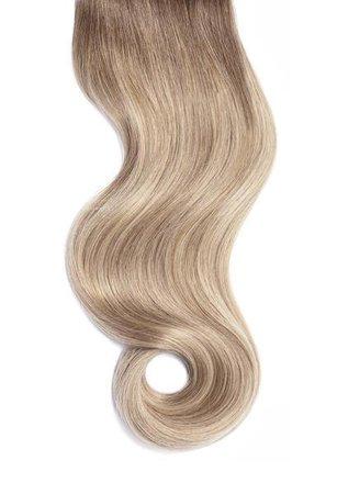 Cream Beige Balayage Single Clip Volumizer | Glam Seamless – Glam Seamless Hair Extensions